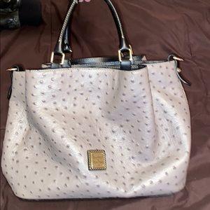 D&B grey ostrich purse